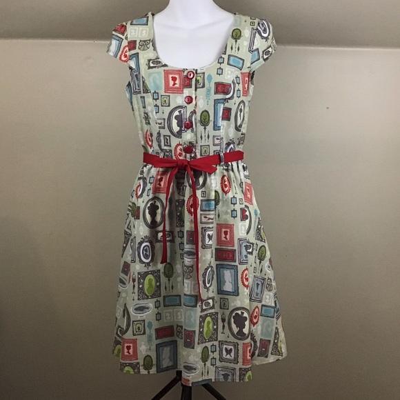 Modcloth Dresses & Skirts - ModCloth Retrolicious  Portrait Frames Dress EUC